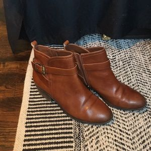 VINCE CAMUTO Beamer Ankle Boot (in Brown Leather)